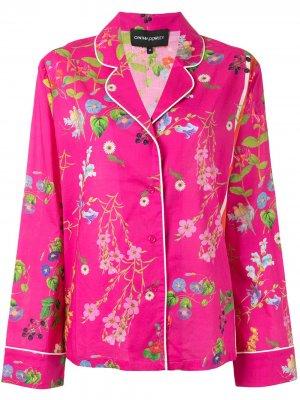 Пижамный топ с цветочным принтом Cynthia Rowley. Цвет: розовый