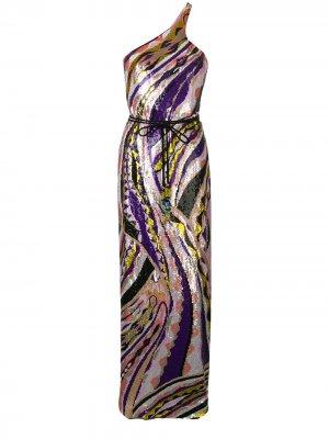 Вечернее платье с пайетками Emilio Pucci. Цвет: фиолетовый