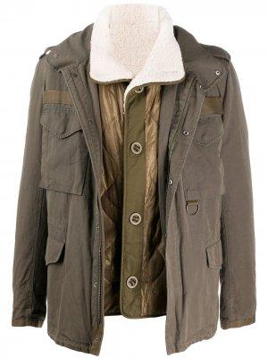Легкая куртка Yves Salomon Army. Цвет: зеленый