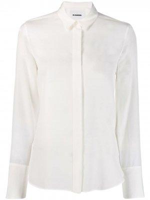 Рубашка Francesca на пуговицах Jil Sander. Цвет: нейтральные цвета