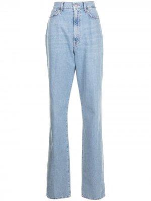 Прямые джинсы с завышенной талией Made in Tomboy. Цвет: синий