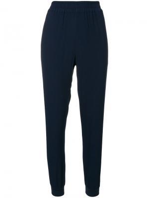 Спортивные брюки узкого кроя с полосками по бокам Zoe Karssen. Цвет: синий