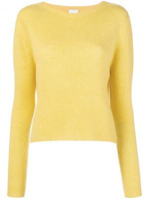 Jewel neck sweater Alysi. Цвет: желтый