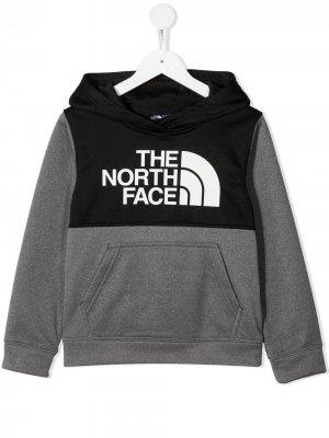Худи Surgent в стиле колор-блок с логотипом The North Face Kids. Цвет: черный