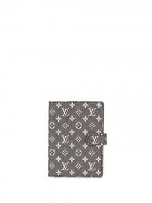 Обложка для блокнота Agenda PM pre-owned 2005-го года Louis Vuitton. Цвет: черный
