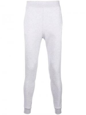 Спортивные брюки кроя слим Le Coq Sportif. Цвет: серый