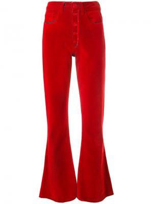Расклешенные брюки с завышенной талией Mm6 Maison Margiela. Цвет: красный