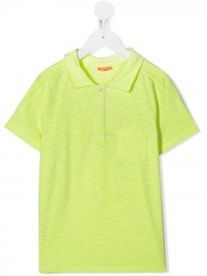 Рубашка-поло с карманом Sunuva. Цвет: желтый