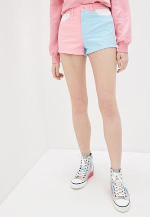 Шорты джинсовые Chiara Ferragni Collection. Цвет: разноцветный