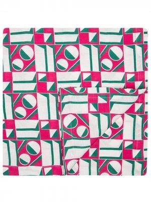 Скатерть с геометричным принтом La Doublej. Цвет: розовый