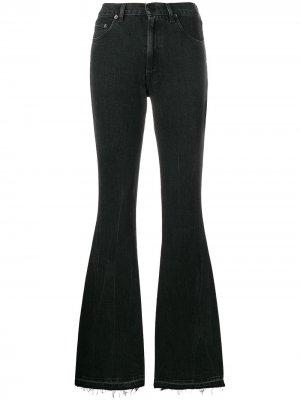 Расклешенные джинсы с завышенной талией Golden Goose. Цвет: черный