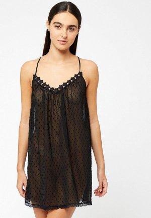 Сорочка ночная Etam. Цвет: черный