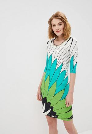 Платье Custo Barcelona. Цвет: зеленый