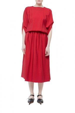 Платье Cyrille Gassiline. Цвет: бордовый