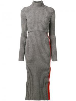 Turtleneck midi dress Sportmax. Цвет: серый