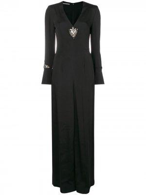 Embellished jumpsuit Alberta Ferretti. Цвет: черный