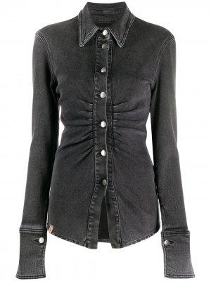 Джинсовая рубашка Jeremy Ssheena. Цвет: серый