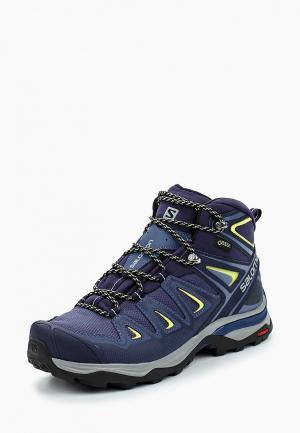 Ботинки трекинговые Salomon. Цвет: синий