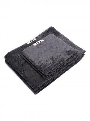 Набор махровых полотенец TEKLA. Цвет: серый