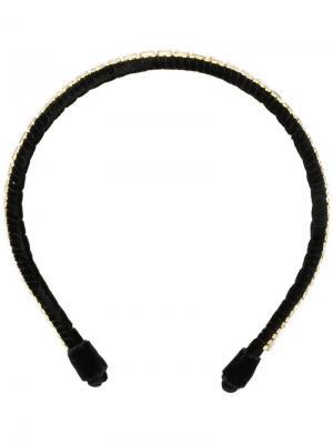 Josephine crystal embroidered headband Ca&Lou. Цвет: черный