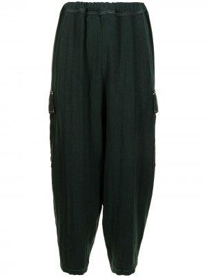 Зауженные брюки карго UNDERCOVER. Цвет: зеленый
