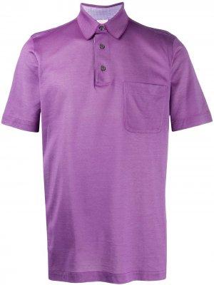 Рубашка поло из ткани пике Brioni. Цвет: фиолетовый