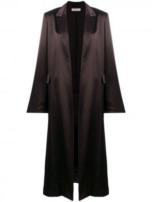 Легкое пальто-накидка Nina Ricci. Цвет: коричневый