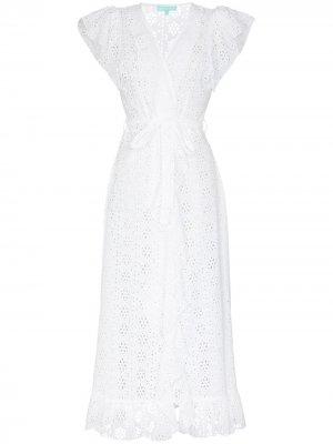Платье миди Brianna с запахом Melissa Odabash. Цвет: белый