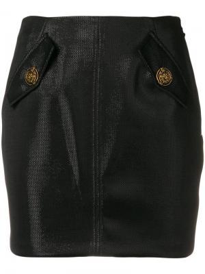 Юбка с карманами клапанами Elisabetta Franchi. Цвет: черный