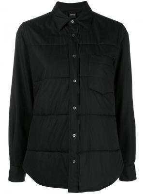 Button shirt jacket Aspesi. Цвет: черный