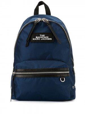 Рюкзак с металлическим логотипом Marc Jacobs. Цвет: синий