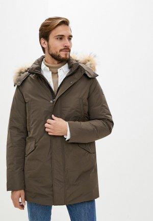 Куртка утепленная Hetrego. Цвет: коричневый