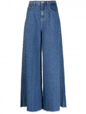 Расклешенные джинсы с завышенной талией LIU JO. Цвет: синий