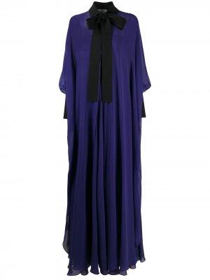 Вечернее платье с открытыми плечами и накидкой Elie Saab. Цвет: фиолетовый