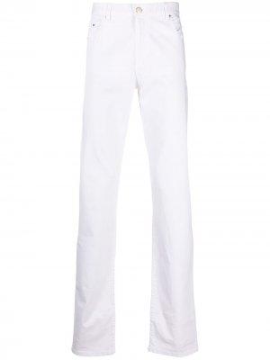 Узкие брюки с пятью карманами Paul & Shark. Цвет: белый