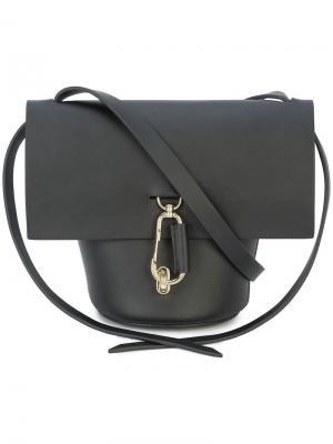 Мини-сумка через плечо Belay Zac Posen. Цвет: черный