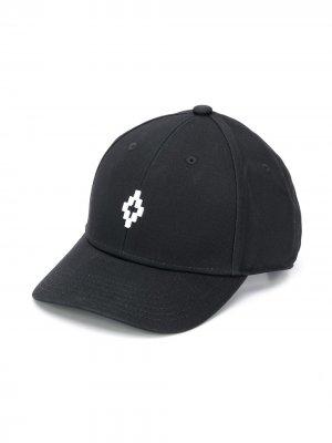 Бейсболка с вышитым логотипом Marcelo Burlon County Of Milan Kids. Цвет: черный
