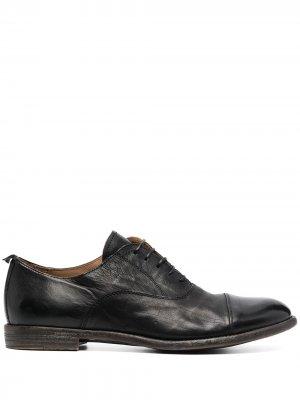Туфли на шнуровке с декоративной строчкой MOMA. Цвет: черный