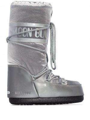 Ботинки Glance Moon Boot. Цвет: серебристый