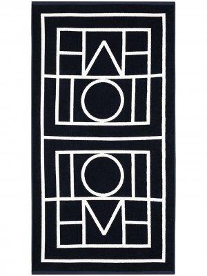Пляжное полотенце Biarritz с логотипом Totême. Цвет: синий