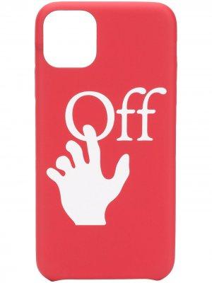 Чехол Hands Off для iPhone 11 Pro Max Off-White. Цвет: красный