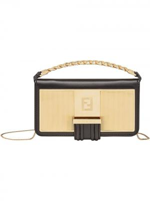 Мини-сумка для iPhone 11 Pro Fendi. Цвет: золотистый