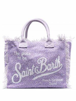 Пляжная сумка с принтом Mc2 Saint Barth. Цвет: фиолетовый