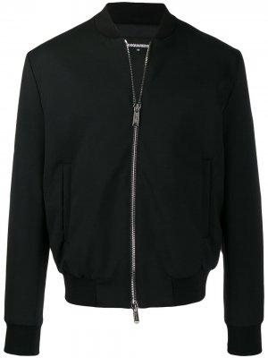 Куртка-бомбер с принтом Dsquared2. Цвет: черный