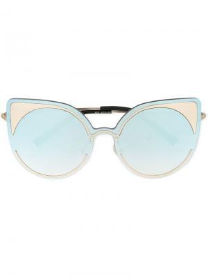 Солнцезащитные очки в оправе кошачий глаз Matthew Williamson. Цвет: металлик