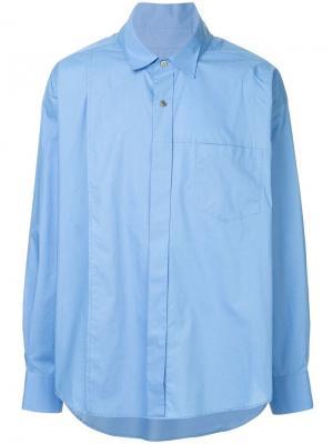 Свободная рубашка Wooyoungmi. Цвет: синий