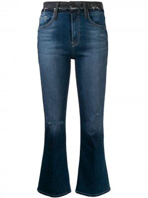 Укороченные джинсы с завышенной талией FRAME. Цвет: синий