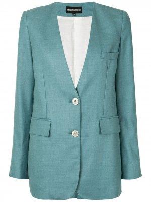 Однобортный пиджак Ann Demeulemeester. Цвет: зеленый