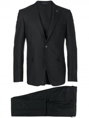 Строгий костюм-тройка Tagliatore. Цвет: черный