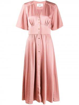 Платье на пуговицах Ba&Sh. Цвет: розовый